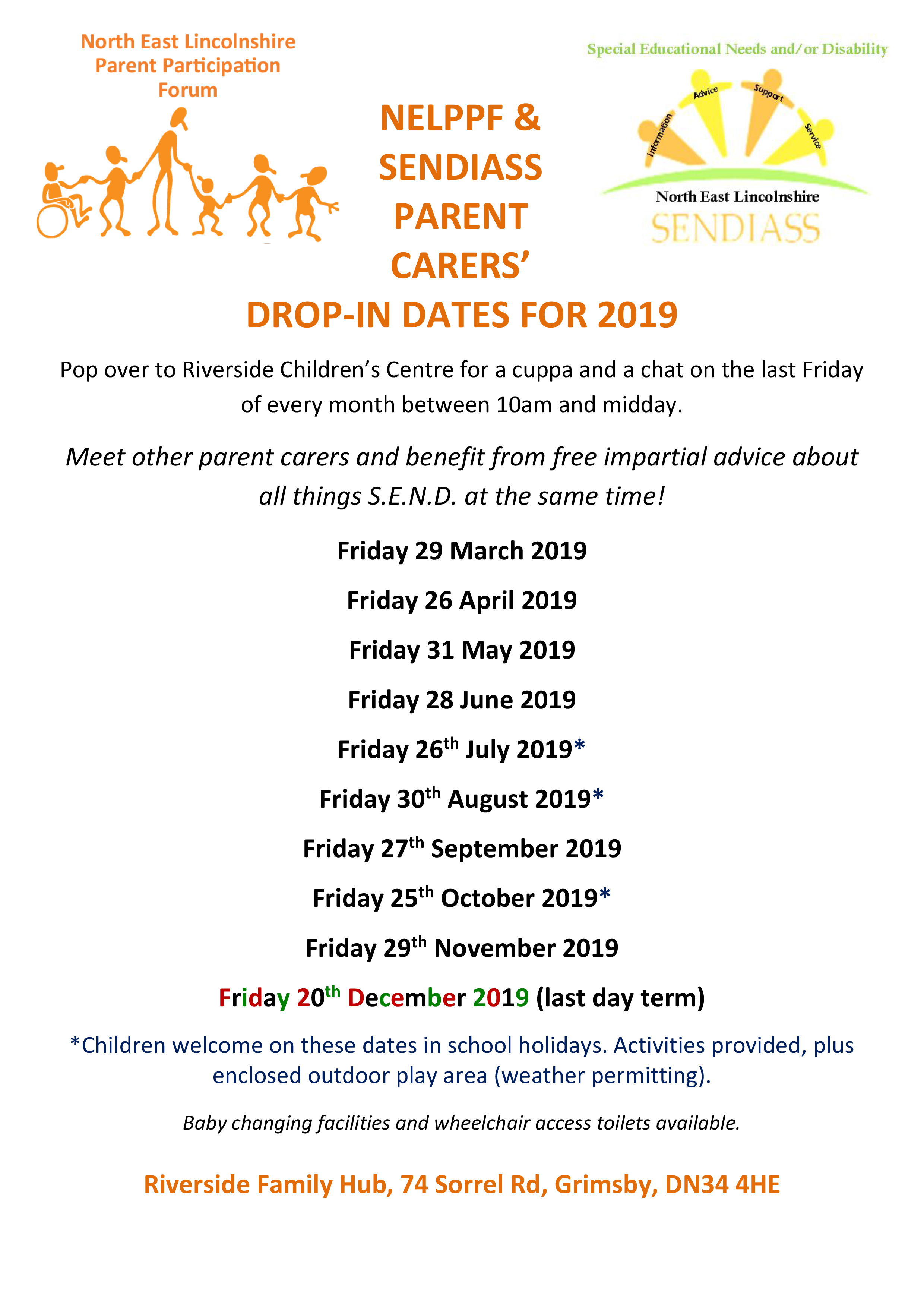 Meet other parent carers and benefit from free impartial advice about all things S.E.N.D. at the same time!