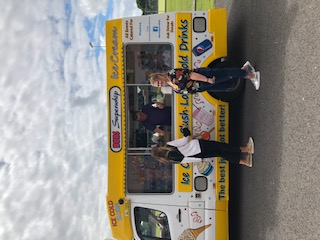 A BIG thank you to Don the Ice Cream Man for coming and giving out free ice creams to our staff and students today.