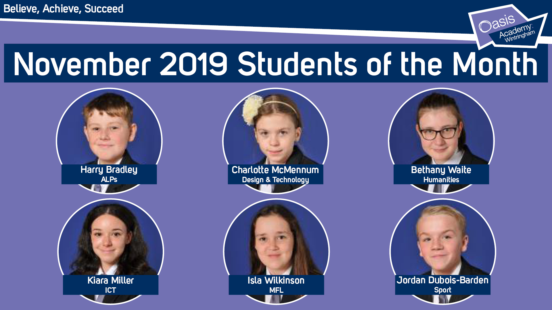 November 2019 Students of the Month